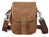 vintage leather  men shoulder bag fashion messenger waist pack TIDING3006