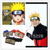 Japan Anime Naruto Cosplay  Konoha Headbands, Uzumaki Naruto cosplay,Uchiha Sasuke Cosplay - Black+Red+Blue(Free Shipping)