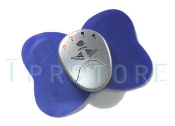 Hot selling Free Shipping ! Electronica Mini Slimming Butterfly Body Muscle Massager  P2 Purple