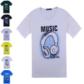 Free shipping,hot sale new arrival men's o-neck printed tee/T-shirt, 6 colors, plus size l-4xl, drop shipping, MTS031