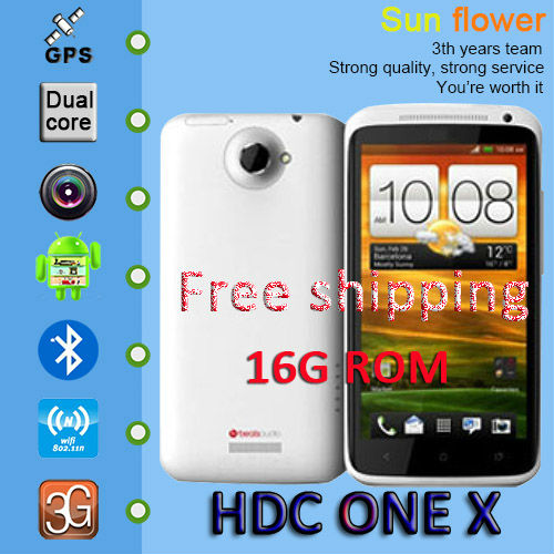 "Really 1:1 One X 1.5GHz CPU MTK 6577 S720e phone Dual core 1GB RAM 16GB ROM 4.7"" HD screen android 4.1.9 free shipping(China (Mainland))"
