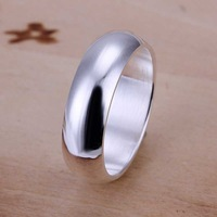 Wholesale 925 Silver Ring,925 Silver Fashion Jewelry Glossy Round Ring Free Shipping SMTR025
