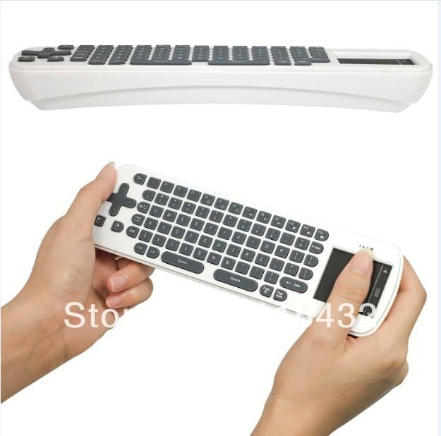 New Mini 2.4G Wireless Touchpad Touch Keyboard For Google Smart TV BOX PC + 3PCS AAA battery singapore post free shipping(China (Mainland))