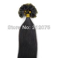 "12""-28""inches 3sets/lot Mix length Keratin Nail Tip U-Tip Brazilian virgin straight human hair extension *DHL Free shipping"