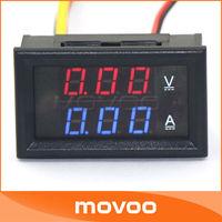 2in1  DC 0-100V/5A Digital Volt Ampere Meter Red/Blue 2-Color Diplay Car Voltmeter Amp LED Electrical Tester 12V