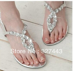 Women's Sandals 2013 Summer Beach Flip Flops Lady Slippers Sandals for Women Diamand Cross Flat Shoes Women Free Shipping(China (Mainland))
