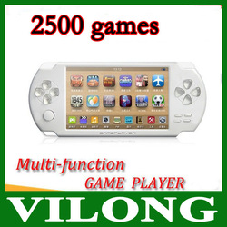 New 4GB 4.3 Inch Large Screen MP5 Game Player+MP4 Player+MP3 Player Biulding 3000 Games(China (Mainland))