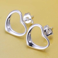 Wholesale 925 Silver Earring,925 Silver Fashion Jewelry Fashion Heart Earrings Free Shipping SMTE099