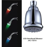 FREE SHIPPING  ABSTemperature Control 3 Colors LED  Shower- LED overhead shower- LED shower-LED rain shower head