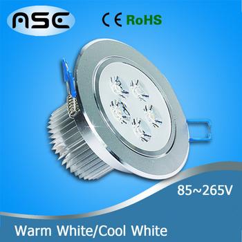 7W LED Downlight Light Industrial Lighting Ceiling Fixture Warm White 1pcs/lot