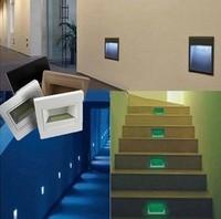 LED Light wall lamp1.5W LED 85-265V indoor lighting wall lamps wall staie light wall mounted LED lamp, 4pcs/Lot