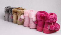 Retail New Kids Shoes Cute boys and Girls ShoesLovely Snow Children Shoes size 13.5cm -15.5cm
