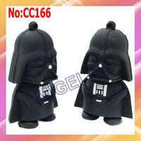 2013 hot sale Free Shipping Wholesale Plastic Star Wars Darth Vader USB Flash Drive pen drive memory card pendrive Stock  #CC166