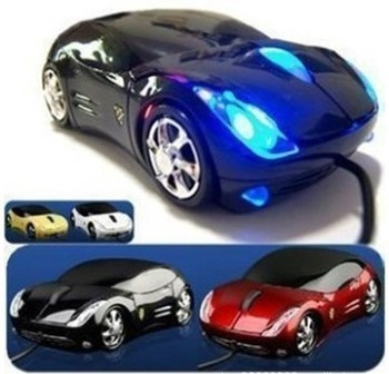 Free Shipping Wholesale Colorfull light Car Shape USB 3D Optical Mouse Computer Mice Hot sale