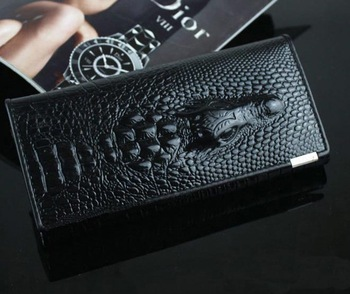 Hot sale crocodile design genuine leather wallets women lady purse noble luxurious personalized custom free shipping