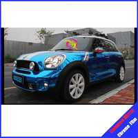 ROHS certificate 1.52X30M Air free bubbles blue glossy chrome auto wrap sticker