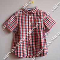 Wholesale New Summer Baby Boy Casual Shirt Kids Clothing Brand Shirt Summer Baby Check Shirts Short Sleeve Free Shipping