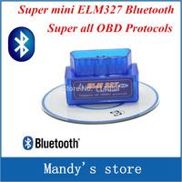 Works on Android Torque super ELM327 v2.1 Mini ELM 327 Bluetooth OBDII OBD-II OBD2 Protocols Auto Diagnostic Tool
