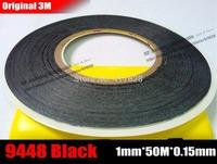 (1mm*50 Meters), Ultra Thin & Slim 3M 9448 Black Double Sided Adhesive Tape for Mobile Phone Screen LCD Display Digitizer Repair