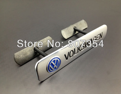 free shipping, 3D Chrome Plated Metal Emblem With vehicle logo design For VW, Front Grille Emblem/badge, bracket installation(China (Mainland))