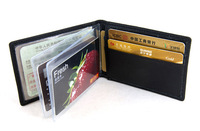 Genuine leather driving license bag license clip card case documents bag wallet men's women's ultra-thin multi card holder