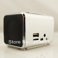 Free shipping + Portable New Music  Mini USB Mp4 Player, digital Speaker& computer speaker