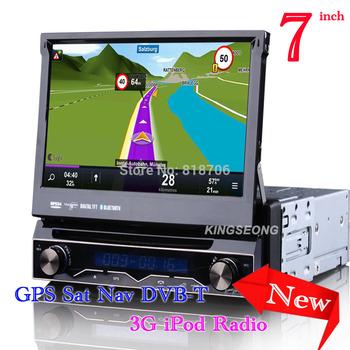 KS7898 7inch 1 Din Car Audio HD Touch Screen Car DVD CD Player With GPS Navigator IPOD DVB-T  MPEG4 Bluetooth USB SD