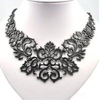 Hot Fashion Black Alloy Vintage Retro Pattern Short Charm Choker Necklace  RuYiXL224