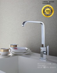 Modern Design Brass Kitchen Faucet With Chrome Finishing Single Hole Single Handle Rotation Faucet D2001(China (Mainland))