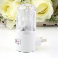 4 LED Wall Mounting Bedroom Night Lamp Light US Plug Lighting Bulb AC 1W