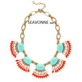 Freeshopping 2013 Fashion exaggerated statement necklace vintage acrylic choker Necklaces dropshipping  N8142