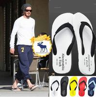 2014 new Summer free shipping Men casual Massage beach flip flops sandals slipper male Rubber sandals mens flats shoes slippers