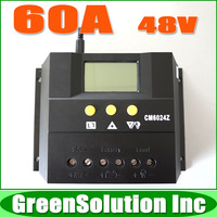 60A LCD Solar Charge Regulator Controller 48V PWM for Solar System, CE, RoHS, Free Shipping