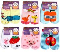 Free Shipping New hot-selling 100% cotton children socks rubber slip-resistant floor socks cartoon small kid's socks ((BBW-134))