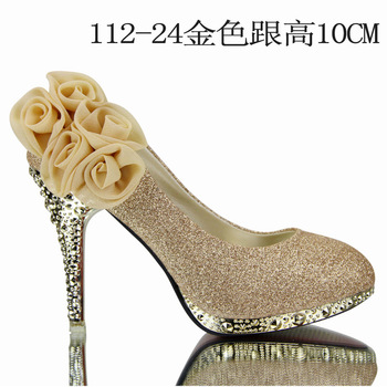 2013 Brand Women red/silver  Wedding Shoes Red Bottoms Platform Wedge HighHeels Sexy Woman Pumps Ladies Pointed Toe Bridal Shoes