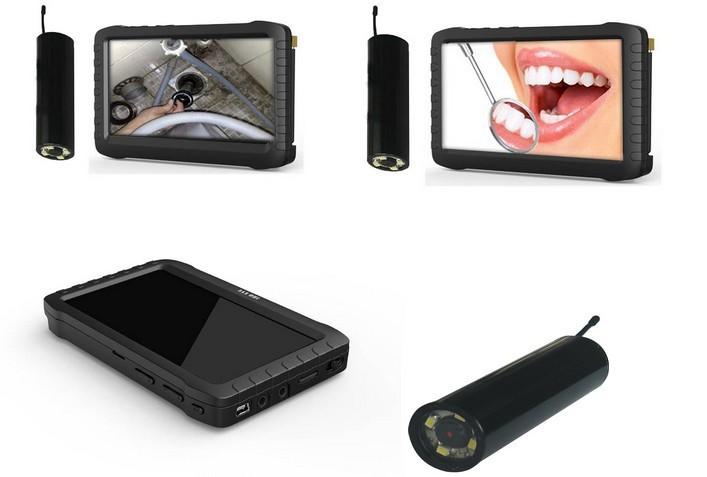 """DHL free shipping 2.4ghz wireless gutter Inspection Camera with 5"""" lcd screen display for cleaning(China (Mainland))"""