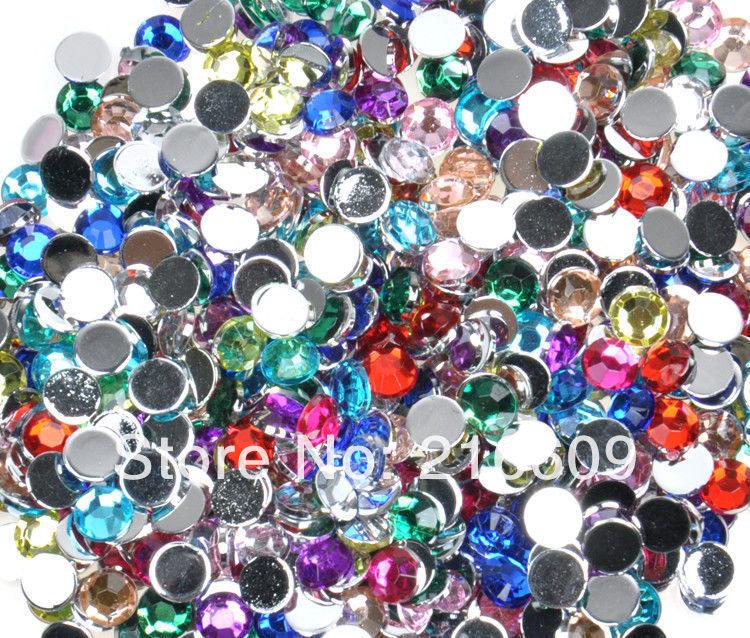 10000pcs/lot Size 2mm Nail Beautify Rhinestone Decorations Diy Nail Accessories 3D Colorful Nail Art Supplier Free Shipping(China (Mainland))