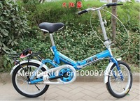 carbon steel frame 16 inch wheel folding bike road bicycle MINI children student bicycle height 120-165cm,send by sea shipping