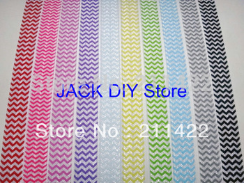 Sample order 10yards/lot Chevron 5/8 inch Chevron FOE Fold Over Elastic for DIY Headband Free Shipping