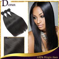 100% Unprocessed Malaysian Virgin Hair Weft Extension Mix 3pcs Malaysian Straight 100g/pc Human Hair Weave Natural Black Bundles