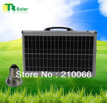Hot selling!20w portable solar powered system,indoor solar home lighting system with led lighting Portable system