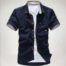 Camisa Casual Masculina Manga Curta