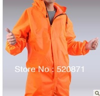With a hood one piece work wear bunny suit multifunctional protective clothing one piece raincoat oil waterproof jacket