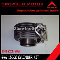 GY6 150cc 61mm Cylinder Kit for Chinese 125QMI Motor Scooters, ATV, Taotao, Roketa. Peace, Yiben, Nst