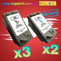 PG-50 CL-51 Printer Ink Cartridge for Canon PG50 CL51 Canon PIXMA IP2200 IP6220D IP6210D MP150 MP160 MP170 MP180 MP450..(3BK+2C)