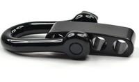 30PCS Black Silver Stainless Steel Adjustable PARACORD BRACELET BUCKLES SHACKLES