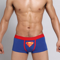 Superman Cotton Men Boxer Underwear  Personality Lovely Sexy Short Panties for Male -Free shipping