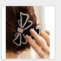 Free shipping wholesale flower rhinestone hair claw clips women hair grips crystal hair accessories
