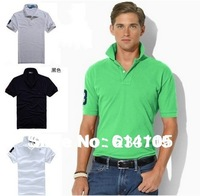 More Colors Free Shipping Mens Shirt Fashion Famous Brand Polo 2014 High Quality Horse Polo Shirt