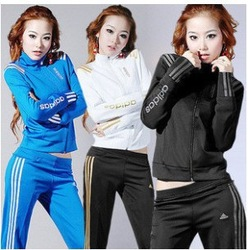 Free shipping !2013 Newest women sports clothing set lady brand active long sleeve coat+pants 2pcs casual sports sweatshirt(China (Mainland))